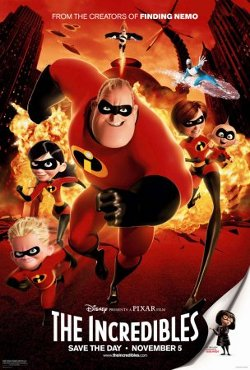 Disney's The Incredibles poster